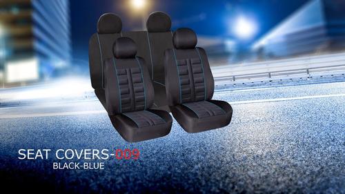 cubreasientos para auto modelo lemans azul y negro