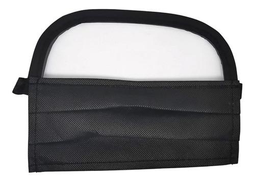 cubreboca con careta facial reutilizable lavable visor cara