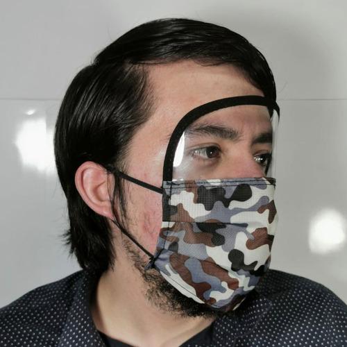 cubreboca y careta lote 50 pz reusable cubre ojos nariz boca
