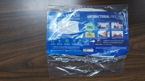 cubrebocas 100% reutilizable con nanomolecula nbelyax 50 pzs