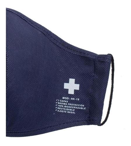 cubrebocas 3 capas de tela lavable reutilizable - novamedica