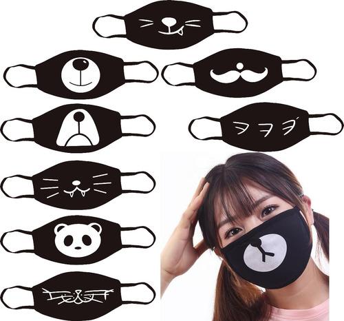 cubrebocas barbijos kpop anime