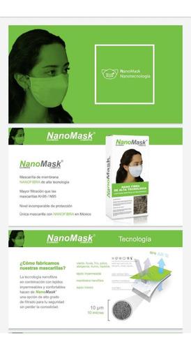 cubrebocas de nanofibra