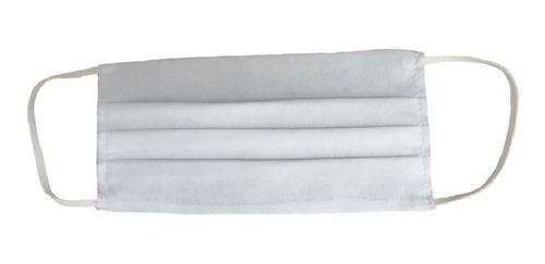 cubrebocas de tres capas plisado costurado (c/50pz)