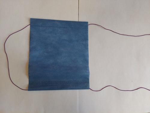 cubrebocas desechable, doble capa, con resorte, 100 pz.