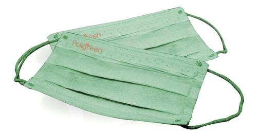cubrebocas ecologico 5 pzs reusables plisado temosellado env