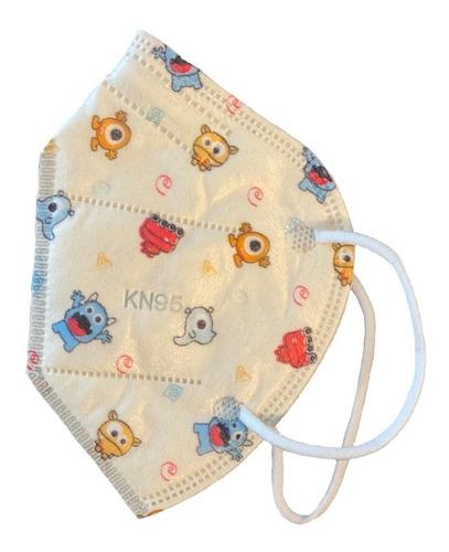 cubrebocas infantil kn 95 con filtro mascarilla 10 unidades