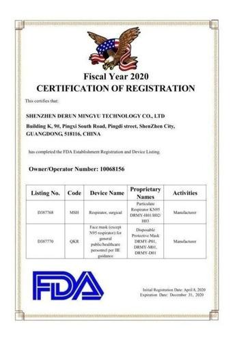 cubrebocas kn95 certificado paquete con 5