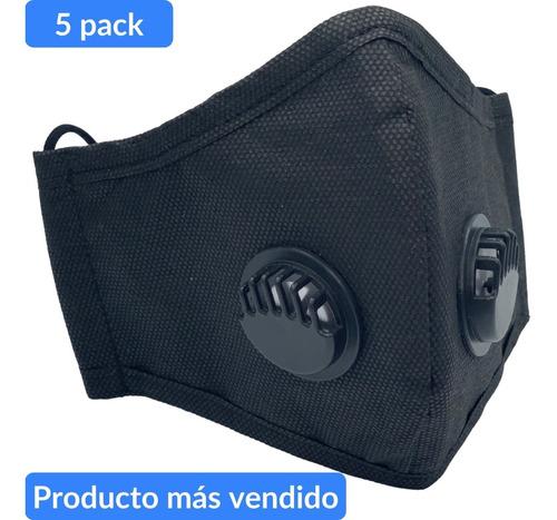 cubrebocas lavable reusable kn95 filtro valvula n95 5 pz