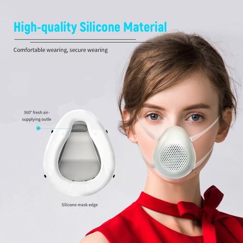 cubrebocas máscara eléctrica inteligente i-mu con silicona