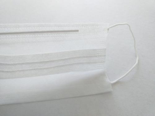 cubrebocas plisado triple pliegue paquete de 25 piezas