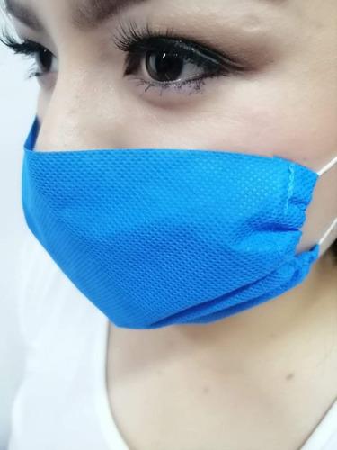cubrebocas quirúrgico tela sms 70g térmico trilaminado 100pz