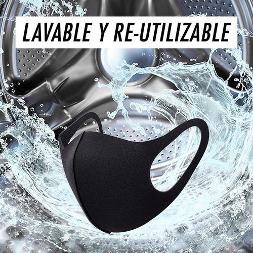 cubrebocas reusable lavable mascarilla protectora tapabocas
