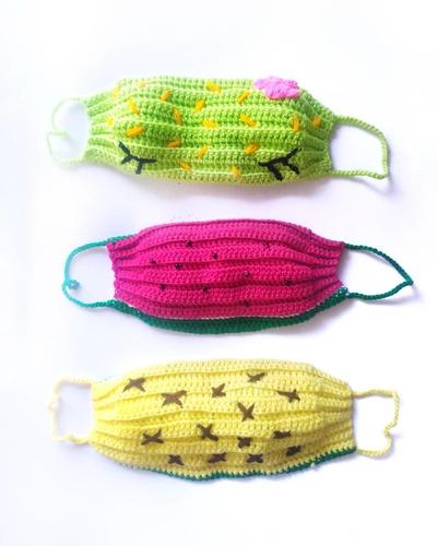 cubrebocas tejidos artesanales