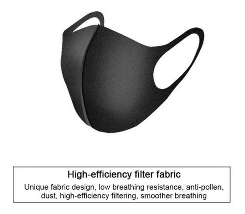 cubrebocas tela lavable tapabocas negro unisex reusable