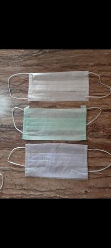 cubrebocas tricapa cosido plisado