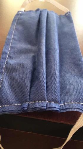 cubrebocas tricapa plisado cosido