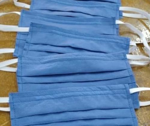cubrebocas tricapa sms plisado grueso desechable 25 piezas.
