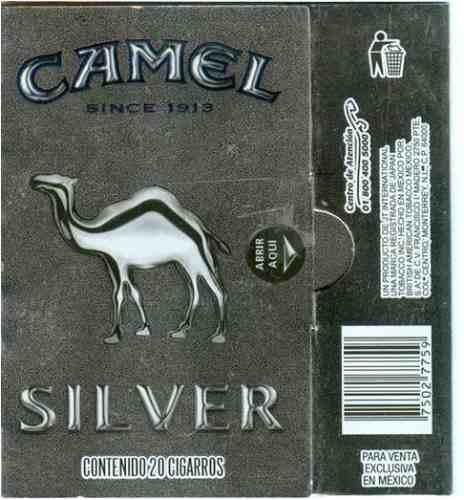 cubrecajetillas camel silver