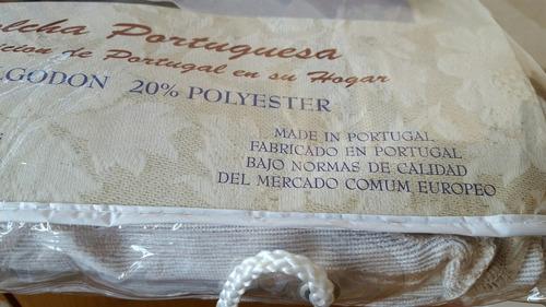cubrecama colcha portuguesa 160x250cm 1y1/2 plaza, impecable