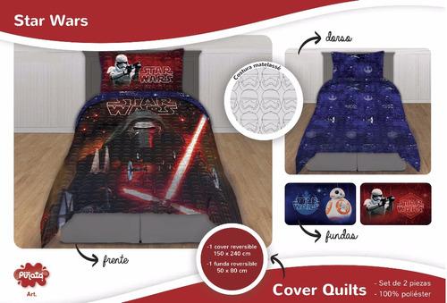 cubrecama cover quilt star wars 1½ plaza oficial +fun