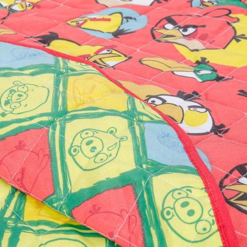 cubrecama infantil 1  1/2 plaza angry birds twin size