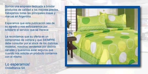 cubrecama palette estocolmo 1 1/2 plaza 100% algodón cover