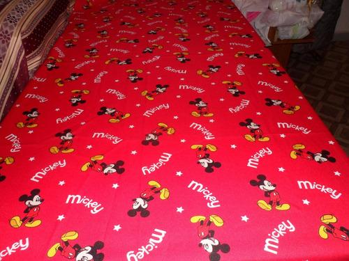 cubrecama para cuna diseño mickey tela panama !! leer medida