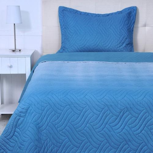 cubrecama quilt ombré 1,5 plazas azul, 815818