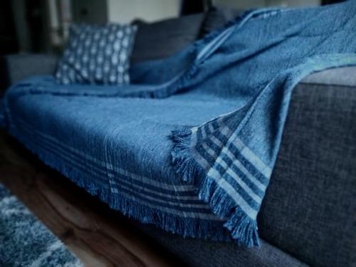 cubrecamas colcha  manta tejida country 160x230 cm