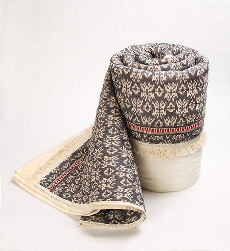 cubrecamas cover percal  algodón! 2y1/2 boho look +fundas
