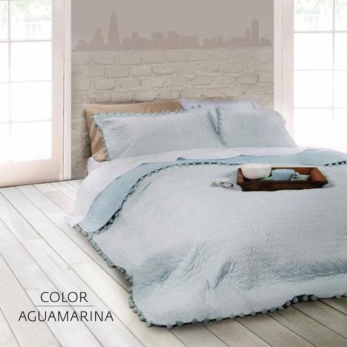 cubrecamas manta cover palette nilo queen size c/ fundas
