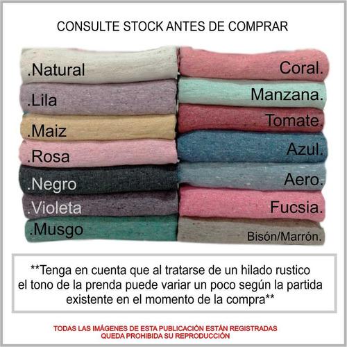 cubrecamas manta rustica tejida country 2 1/2 plz + camino