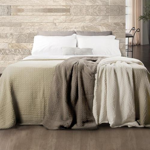 cubrecamas palette kenia king size 2x2 100% algodón