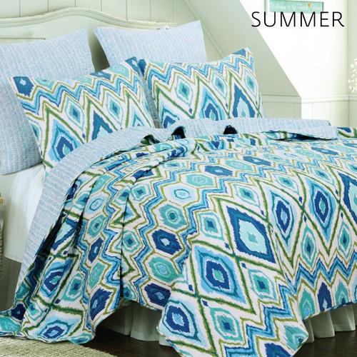 cubrecamas quilt cover king size 5 piezas premium c/ fundas