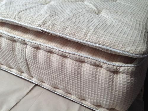cubrecolchon matelasse soft ¿ jacquard crudo algodón (1.80,