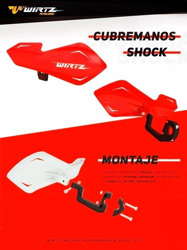 cubremanos  flotantes wirtz® shock motocross tornado xtz atv