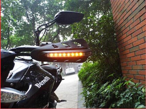 cubrepuños led universales  (handguards) para moto o scooter