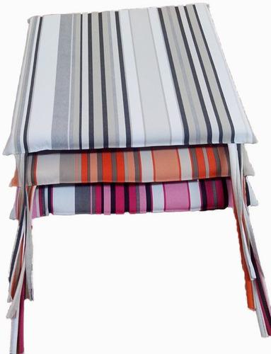 cubresillas ecocuero estampado - almohadon para sillas !!