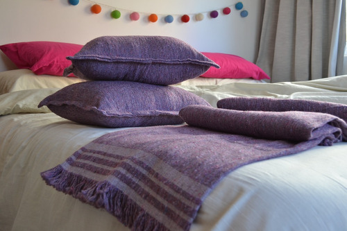 cubresillón / pie de cama / manta rustica country 130x150cm