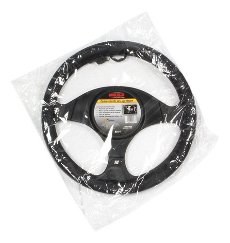 cubrevolante universal  piel color negro funda cubre volante