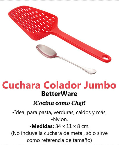 cuchara colador jumbo betterware