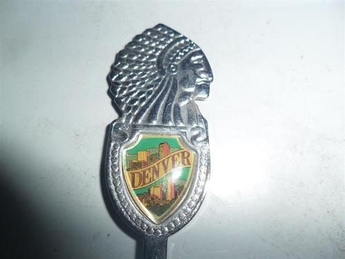 cuchara cucharita metal denver indio apache usa eeuu
