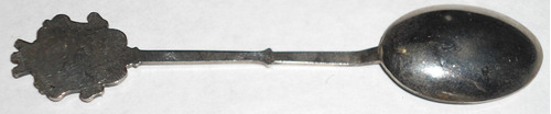 cuchara decorativa antigua electroplata venecia italia