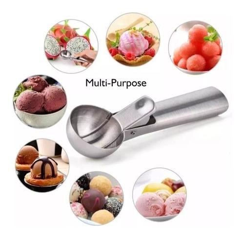 cuchara mecanica de helado de acero inox (diametro ø 4,7cm)