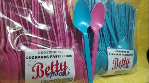 cuchara pastelera betty,  caja con 3000 cucharas 60 / 50