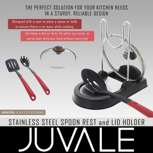cuchara y titular cuchara - acero inoxidable - para cocina s