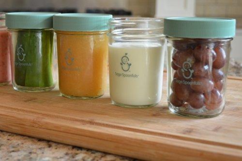 cucharadas sabias de 4 piezas de vidrio snack jar