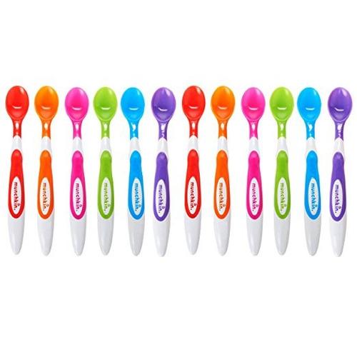 cucharas bebé punta suave munchkin 12 unidades colores