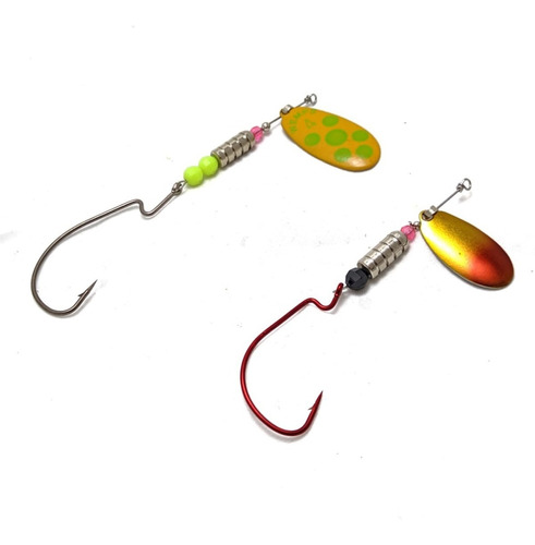 cucharas giratorias tipo spinner con offset wemps pack x 3